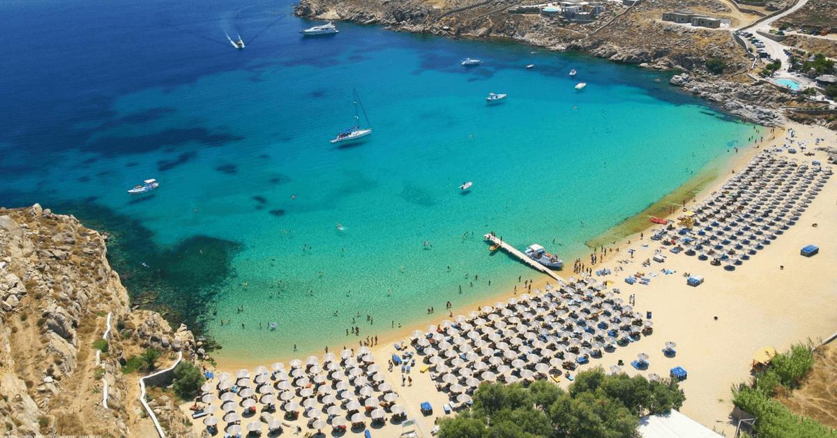 mykonos beaches - paradise beach