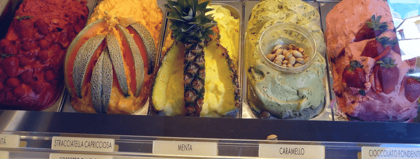 Fresh Gelato in Italy