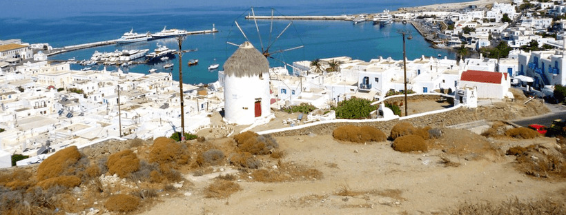 A scenic hiking trail in Mykonos