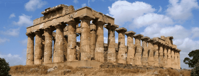 Greek ruins in the Valley of Temples, Sicily, Italy