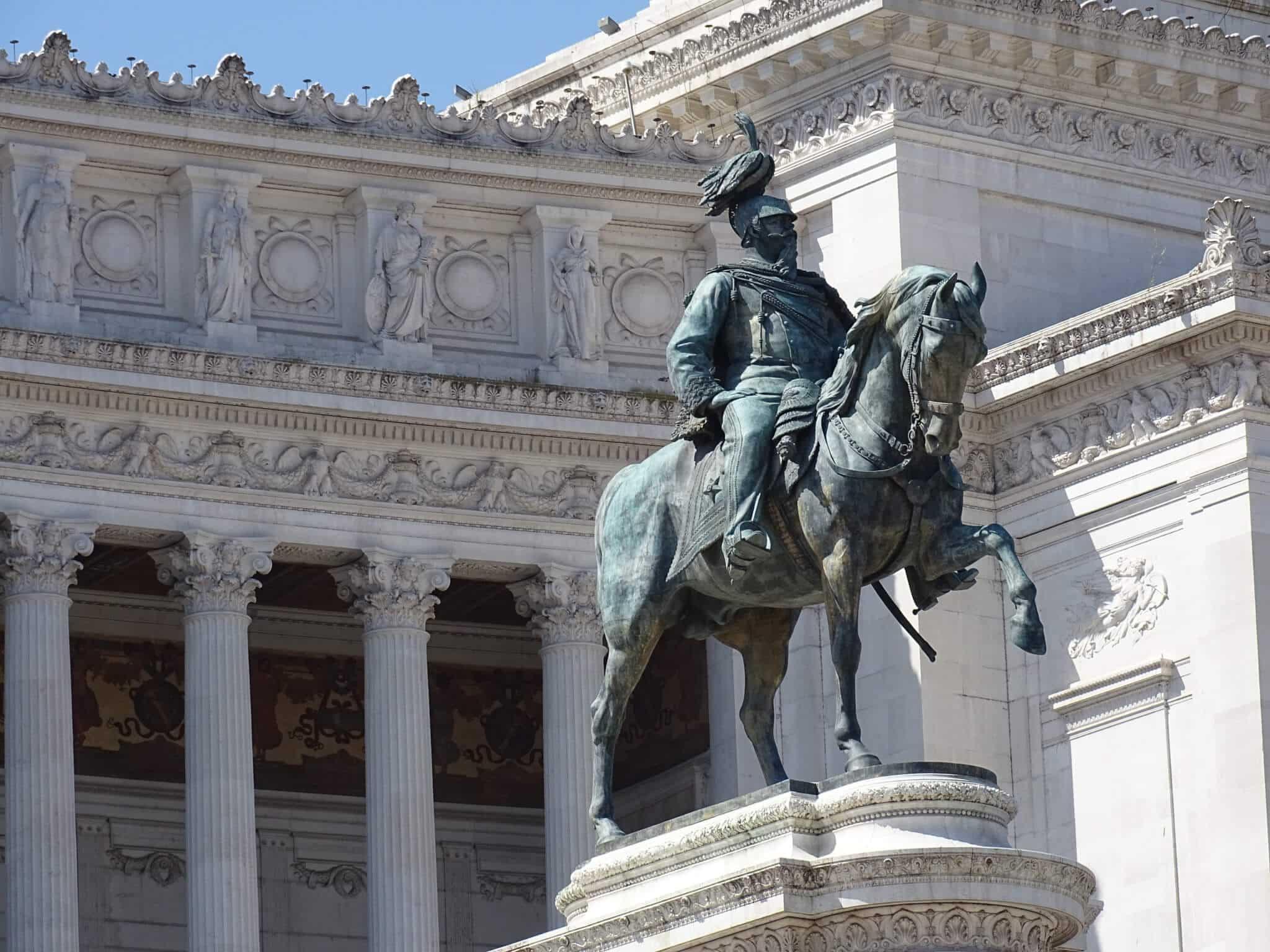 Piazza Venezia in Rome, Italy.