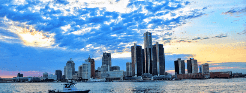 The Beautiful Detroit Skyline