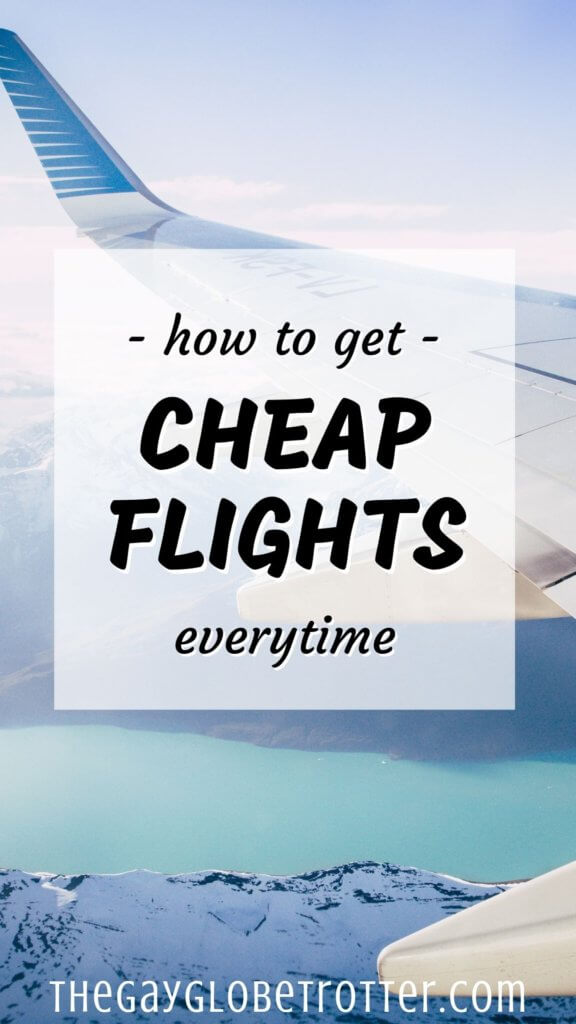 "An image of an airplane with text overlay that reads ""how to find cheap flights"""