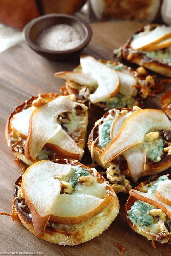 Pear gorgonzola appetizers
