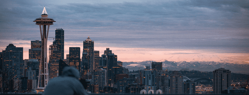 Gay area in Seattle with a great view of the city.