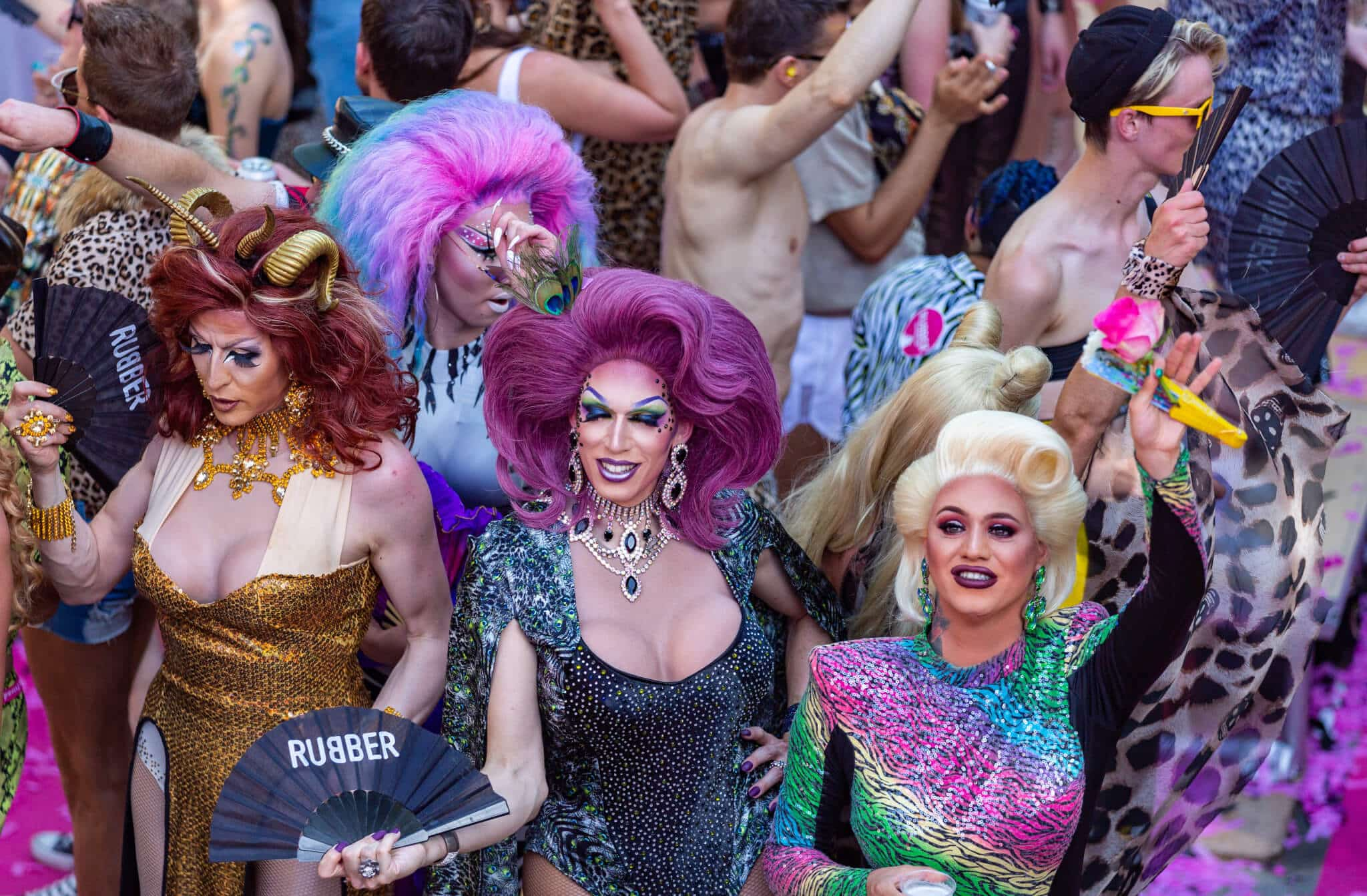 Drag queens in Pride parade