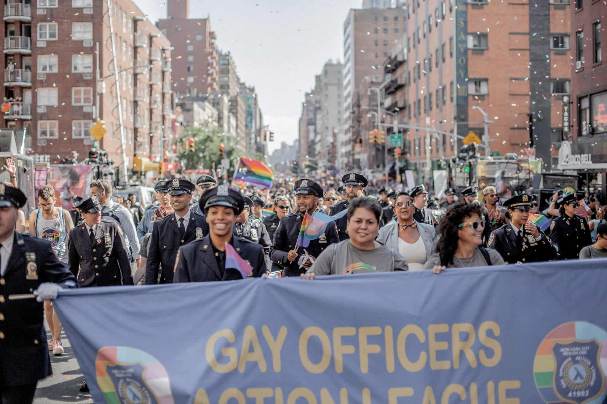 gay police officers at the stonewall riots anniversary