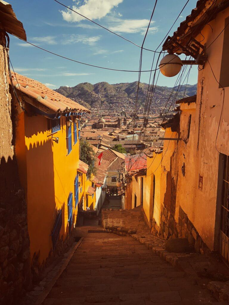 A city view in Peru.