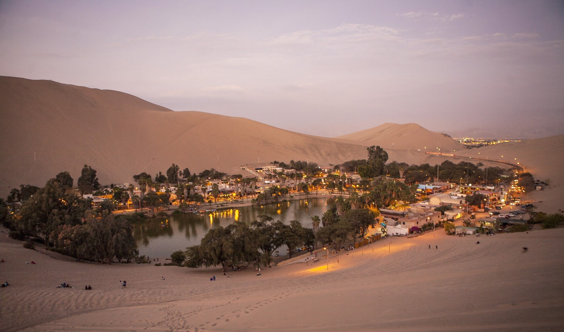 The sandy oasis known as Huacachina, Peru
