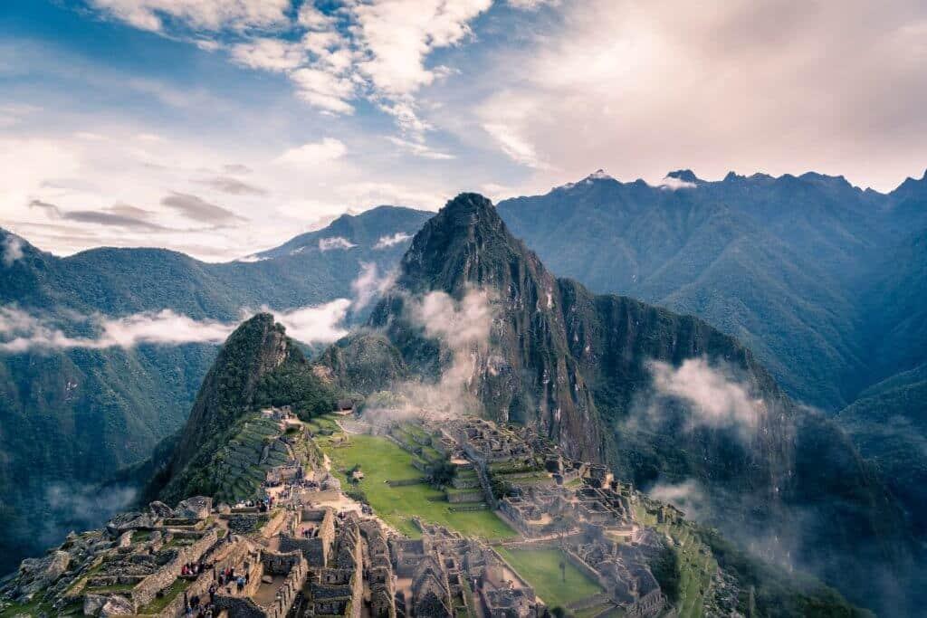 Machu Pichu in Peru.