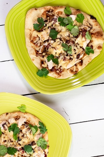 Barbecue Chicken, Bacon and Cilantro Pizza