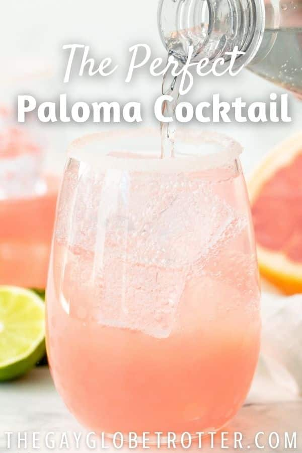 A paloma with text overlay.