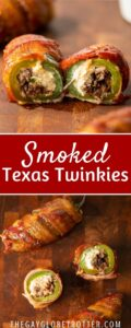 Two images of texas twinkies with text overlay.