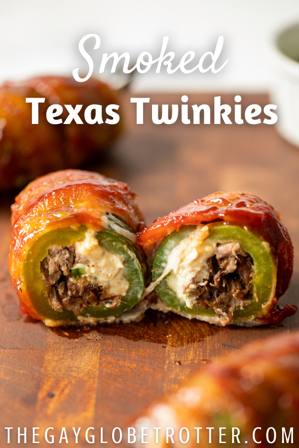 texas twinkies on a cutting board with text overlay.