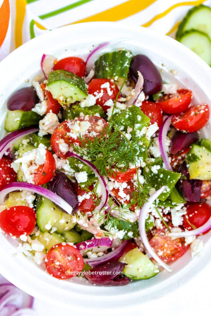 This easy greek salad is one of my favorites!