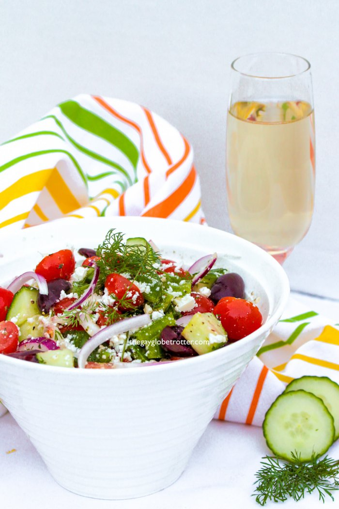 Authentic Greek salad is so easy and tastes amazing!
